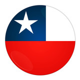 Abstract illustration: button with flag from Chile country poster