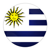 Abstract illustration: button with flag from Uruguay country poster