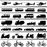 Fototapety transportation vector set