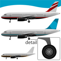 great detail airplane vector