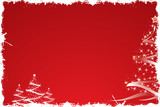 Fototapety Christmas tree in red