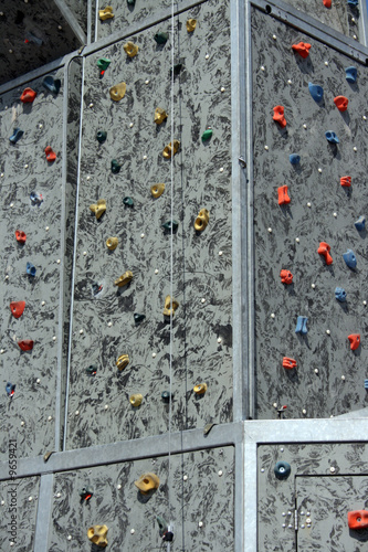 the wall for amateur rock climbers