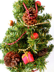 christmas tree detail isolated
