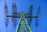 Electrical powerline tower poster