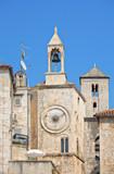 Famous Romanesque tower clock in Split, Croatia poster