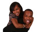 Krásné african american pár na čistě bílém pozadí