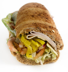 Turkey salad sub sandwhich