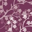 branche de fleurs prune