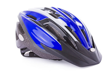 Bicycle helmet isolated on a white background.