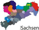 Freistaat Sachsen -Color gefunden auf Fotolia.de
