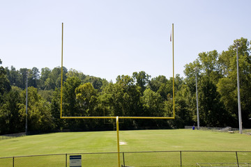 Goal posts on an american football field