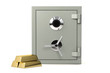 Bank safe isolated over a white background.