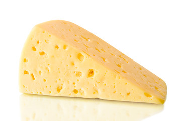 food. piece of cheese isolated