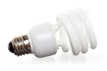 horizontal cfl isolated against white groun