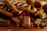 Fototapety Schokolade und Gewürze