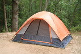 Camping Tent In Woods poster