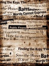 Nouveaux titres en papier avec fond de vieux papiers