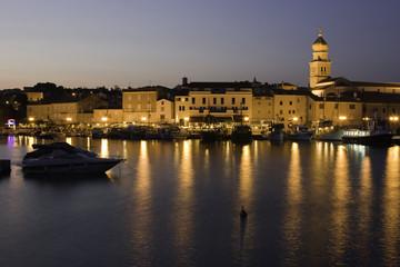 Krk old town at croatian adriatic coastline
