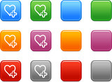 Color buttons with add to favorites icon poster