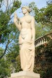 Nude statue at Palau Reial de Pedralbes, Barcelona, Spain poster