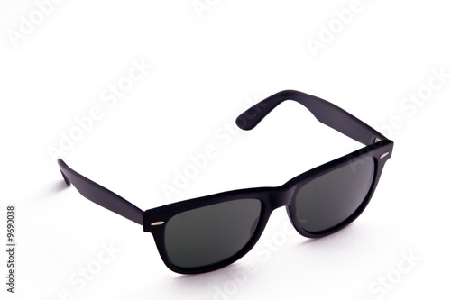 Black Polarised Sunglasses on white background