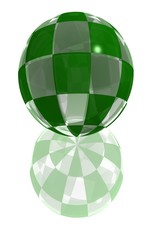 green glass button