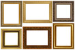 Antique frames collection isolated on white background