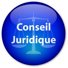 """Bouton """"Conseil Juridique"""" (bleu)"""