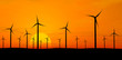 Wind turbines over orange sunrise ( see more in my portfolio)