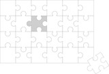 Puzzle almost solved. Vector file poster