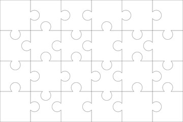 Puzzle pieces. Vector file