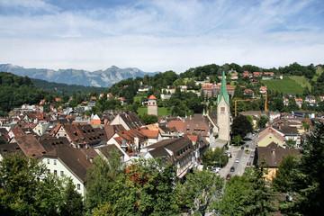 Townscape od Feldkirch, Vorarlberg, Austria.