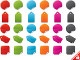 Color Stickers Set. Easy To Edit Vector. poster