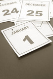 New Year, calendar date January 1 for background poster