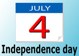 Independence day. Calendar date poster