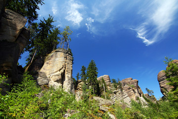 Rocks in the National park of Adrspach rocks-Czech Republic