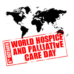 ruber stamp - world hospice and palliative care day