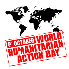 rubber stamp - world humanitarian action day