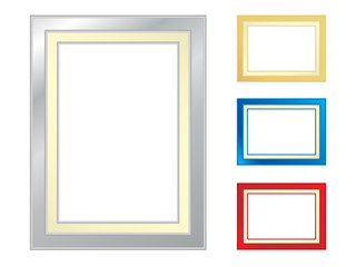 Set of four picture frames