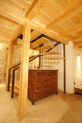 Staircase in newly renovated house