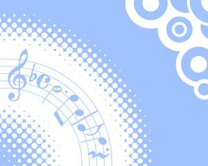 blue musical halftone background