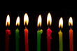 birthday candles with black background