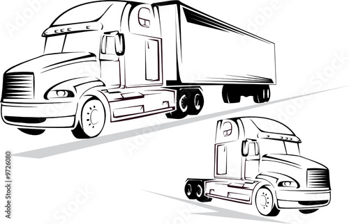 Vector-illustration of the big truck on a white background