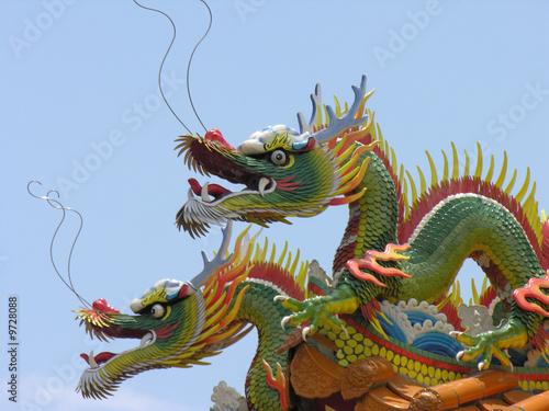 Leinwandbild Motiv Drachen in Asien