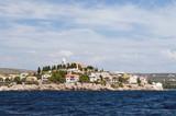 Croatian city Primosten on the seashore poster
