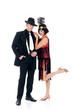 Attractive young couple, retro look Lindy Hop era.