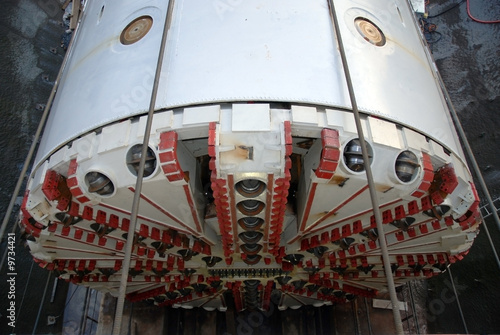 Leinwanddruck Bild Tunnelbohrmaschine