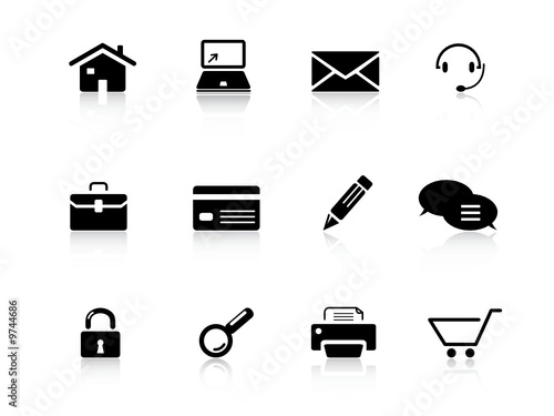 Web icons set from series