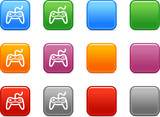 Color buttons with gamepad icon poster