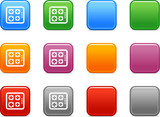 Color buttons with gas stove icon poster